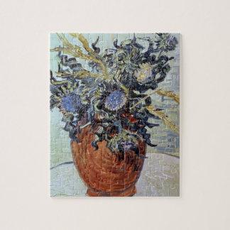 Todavía vida con los cardos, 1890 (aceite en lona) puzzles con fotos