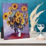 Todavía vida con los girasoles de Claude Monet Placas Con Fotos