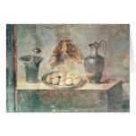 Todavía vida con los huevos y los tordos tarjeta de felicitación