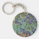 Todavía vida con los iris de Vincent van Gogh Llavero Personalizado