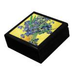Todavía vida con los iris Vincent van Gogh Caja De Regalo