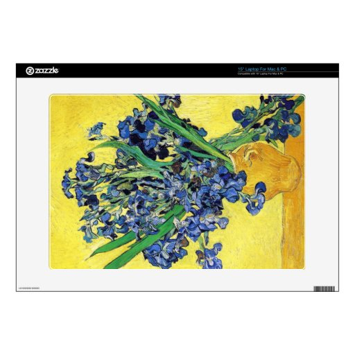 Todavía vida con los iris Vincent van Gogh Portátil 38,1cm Skin