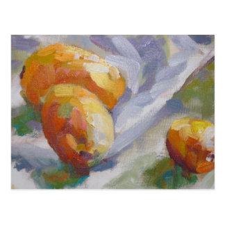Todavía vida con los kumquats postales