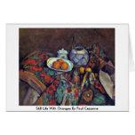 Todavía vida con los naranjas de Paul Cezanne Tarjetón