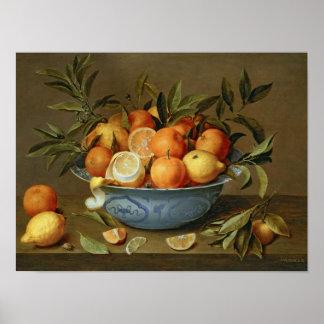 Todavía vida con los naranjas y los limones posters