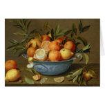 Todavía vida con los naranjas y los limones felicitaciones