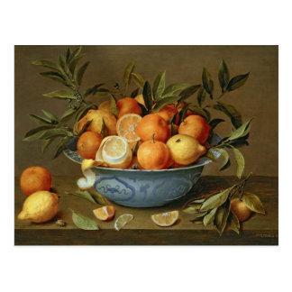 Todavía vida con los naranjas y los limones postales