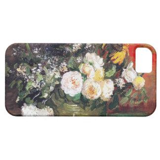 Todavía vida con los rosas y los girasoles de Vinc iPhone 5 Fundas