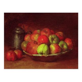 Todavía vida con manzanas y una granada postales