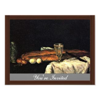 Todavía vida con pan y huevos de Paul Cézanne