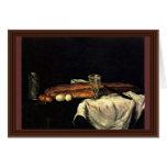 Todavía vida con pan y huevos de Paul Cézanne Tarjeton