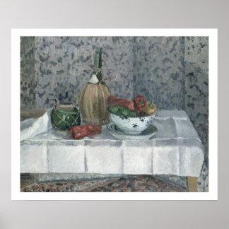 Todavía vida con pimientas, 1899 (aceite en lona) poster