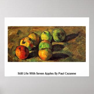Todavía vida con siete manzanas de Paul Cezanne Impresiones