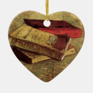 Todavía vida con tres libros de Vincent van Gogh Ornamento Para Reyes Magos