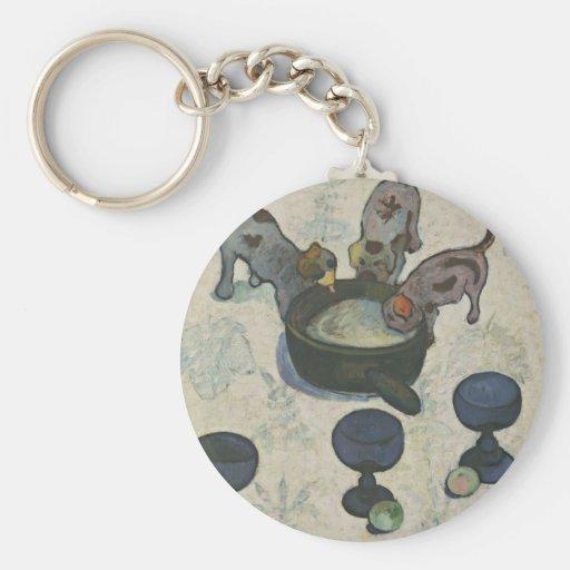 Todavía vida con tres perritos de Paul Gauguin Llavero Personalizado