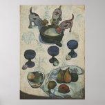 Todavía vida con tres perritos de Paul Gauguin Posters