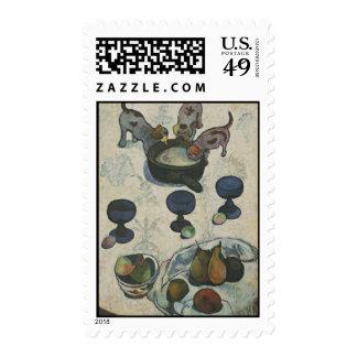 Todavía vida con tres perritos de Paul Gauguin Sello