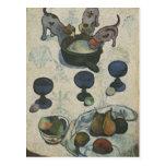 Todavía vida con tres perritos de Paul Gauguin Tarjeta Postal