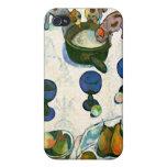 Todavía vida con tres perritos, Paul Gauguin iPhone 4 Cobertura