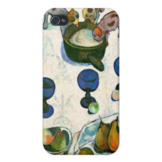 Todavía vida con tres perritos, Paul Gauguin iPhone 4/4S Carcasa