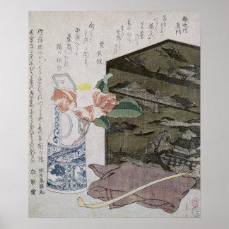Todavía vida con un Camelia, c.1820 Póster