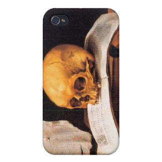 Todavía vida con un cráneo y un almanaque - Stosko iPhone 4 Protector