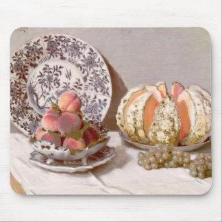 Todavía vida con un melón - Claude Monet Tapetes De Ratones