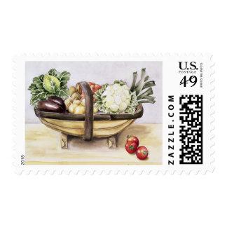 Todavía vida con un trug de las verduras 1996 sello