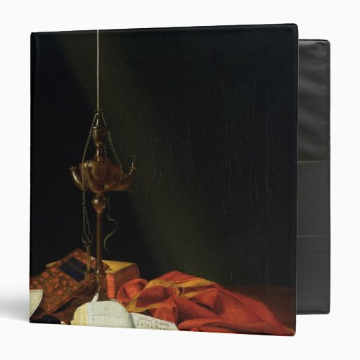 """Todavía vida con una biblia, 1821 carpeta 1 1/2"""""""