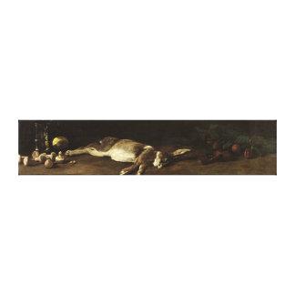 Todavía vida con una liebre, 1863 lona envuelta para galerias