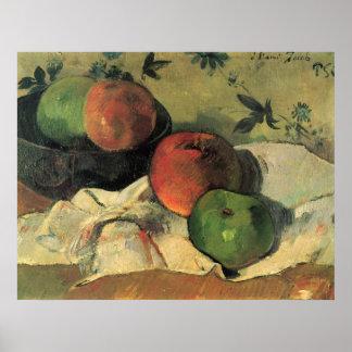 Todavía vida de Eug�ne Enrique Paul Gauguin Póster
