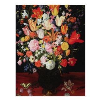 Todavía vida de flores, 1610s tarjeta postal