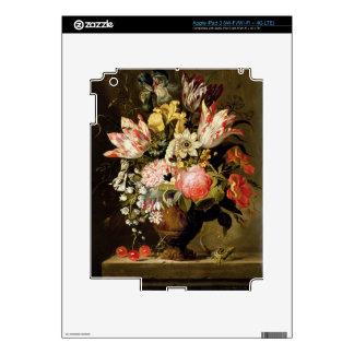 Todavía vida de flores en un florero con un lagart pegatina skin para iPad 3