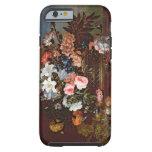 Todavía vida de flores en una cesta funda de iPhone 6 tough