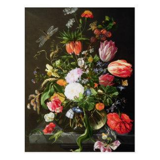 Todavía vida de flores postales