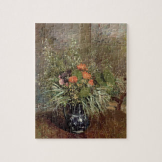 Todavía vida de flores salvajes puzzle con fotos
