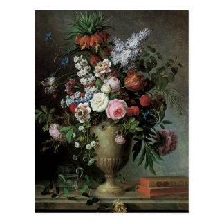 Todavía vida de flores postal