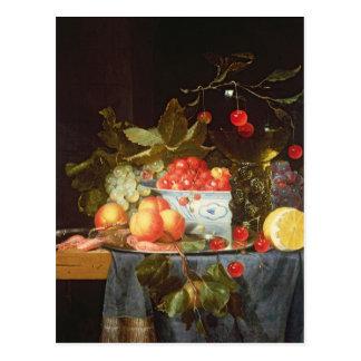 Todavía vida de la fruta tarjetas postales