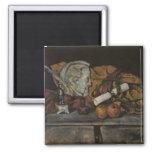 Todavía vida de los accesorios del artista, 1872 imanes de nevera