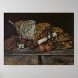 Todavía vida de los accesorios del artista, 1872 impresiones