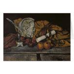 Todavía vida de los accesorios del artista, 1872 tarjetón