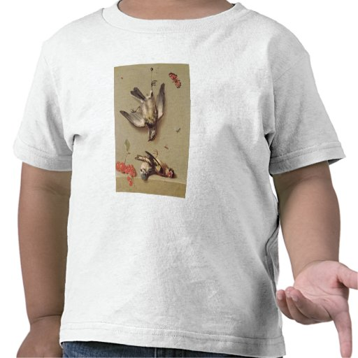 Todavía vida de los pájaros y de las cerezas muert camiseta