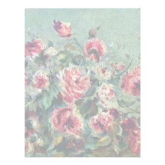 Todavía vida de los rosas Vargemont de Membretes Personalizados