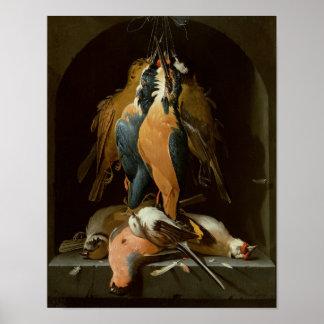Todavía vida de pájaros póster