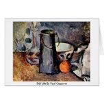 Todavía vida de Paul Cezanne Felicitacion