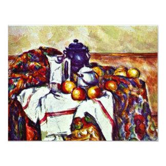 """Todavía vida de Paul Cézanne (la mejor calidad) Invitación 4.25"""" X 5.5"""""""