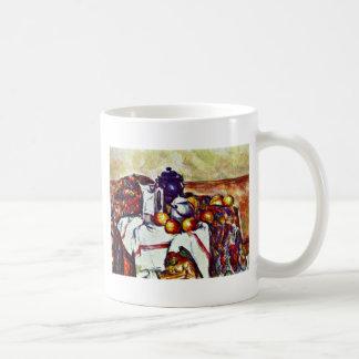 Todavía vida de Paul Cézanne (la mejor calidad) Taza De Café