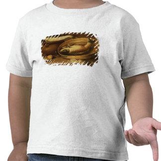 Todavía vida de pescados y de limones camisetas