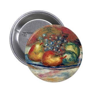 Todavía vida de Pierre-Auguste Renoir (la mejor Chapa Redonda 5 Cm