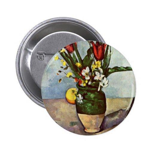 Todavía vida de tulipanes y de manzanas de Paul Cé Pin